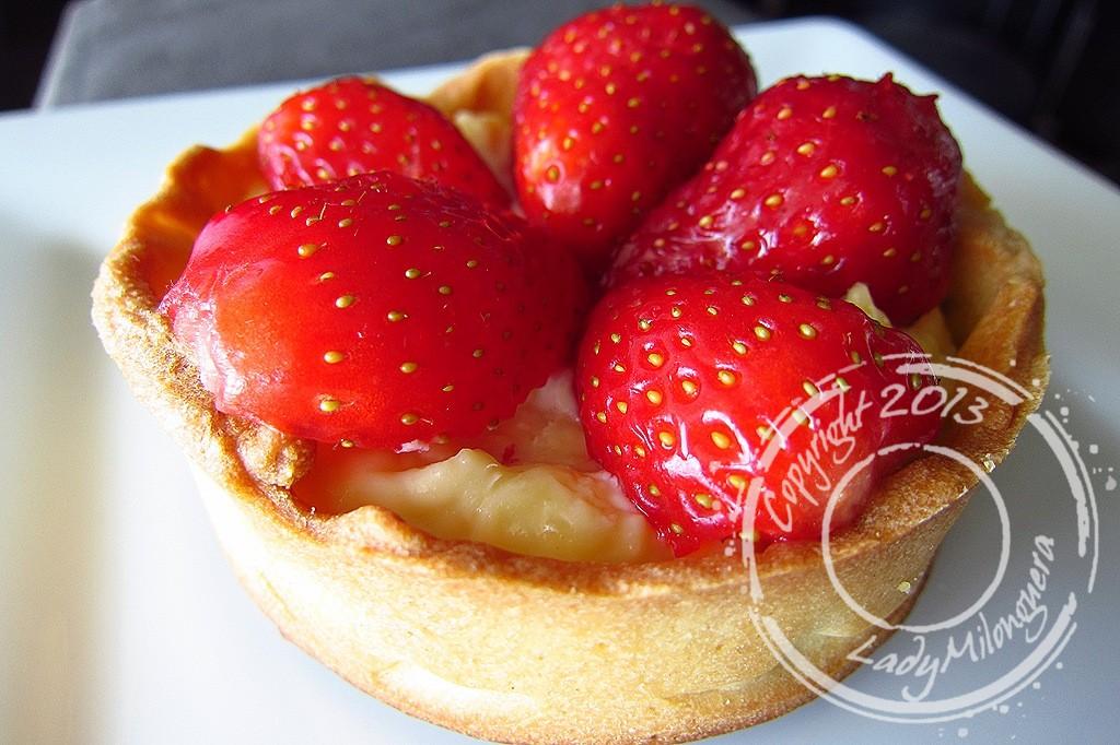 Tartelettes aux fraises et crème au basilic de Cyril Lignac