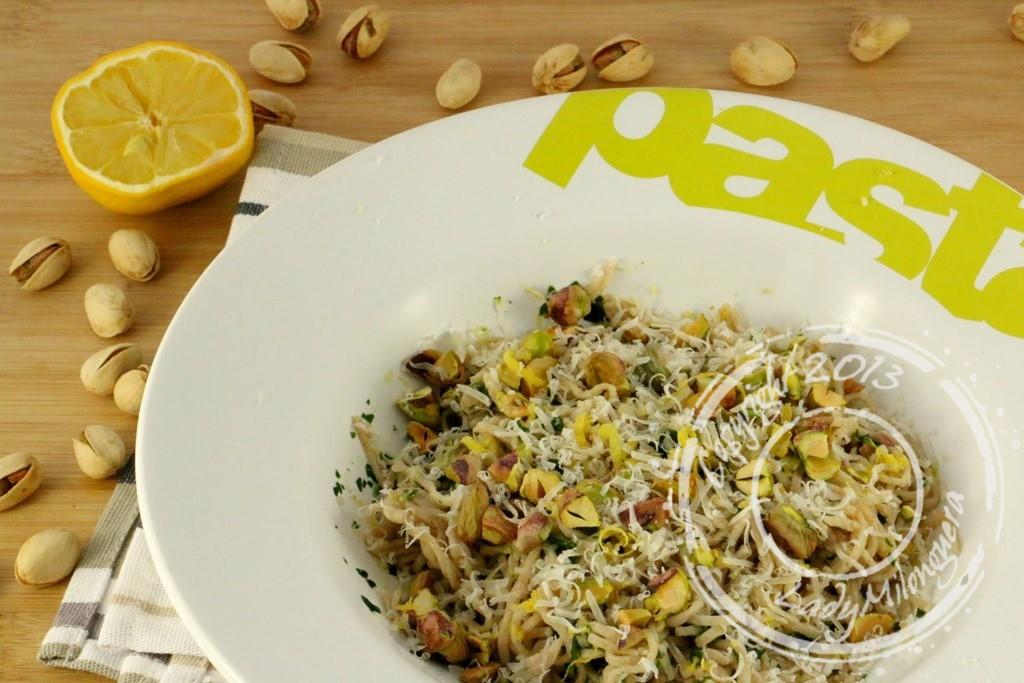 Linguine aux pistaches, citron et parmesan