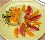 Filets de rouget, sauce à l'orange