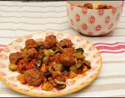 Boulettes de viande mi-bœuf mi-veau